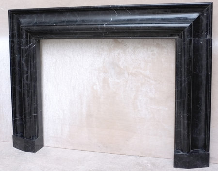 antique marble fireplace of the artdeco period
