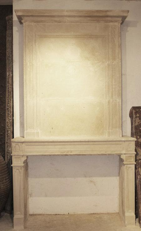 cheminée avec trumeau pierre époque XVII° L166x294 cm