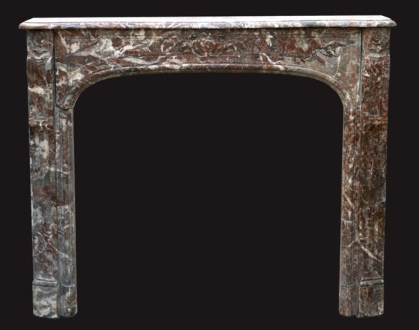 cheminée ancienne d'époque Régence en marbre de Rance L 137 x H 113 cm