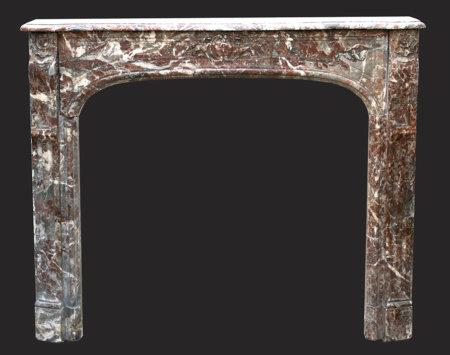 cheminée ancienne d'époque L XIV marbre Rance L 137 x H 113 cm