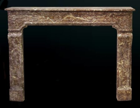antique marble fireplace of the eighteenth century