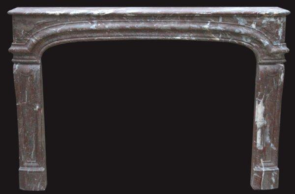 cheminée ancienne d'époque LXIV en marbre Royal L 156 x 107 cm