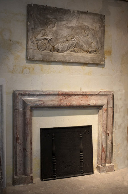 antique marble fireplace of the seventeenth century