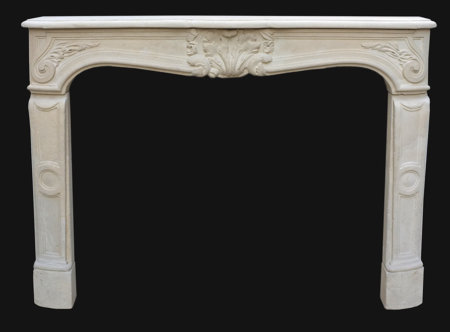 cheminée ancienne antique stone fireplace dating from the 18th century