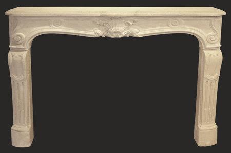 cheminée ancienne d'époque L XV pierre de Paris L 147 x 110 cm