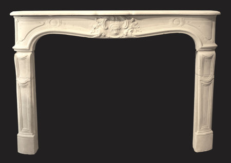 French fireplace mantel