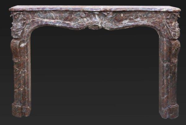 cheminée ancienne d'époque L XV en marbre de Rance