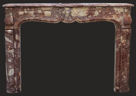 cheminée marbre St Berthevin époque Louis XV L 163 x H 123 cm