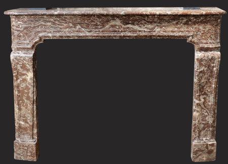 cheminée ancienne d'époque L XIV marbre de Rance L 141x H 105 cm