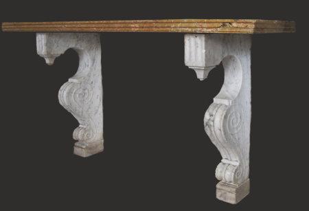 paire de consoles en marbres époque fin XVIII° L 172, Hauteur 92 cm
