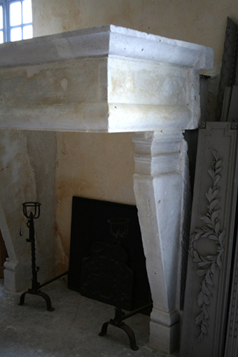 antique stone fireplace dating from the 16th century